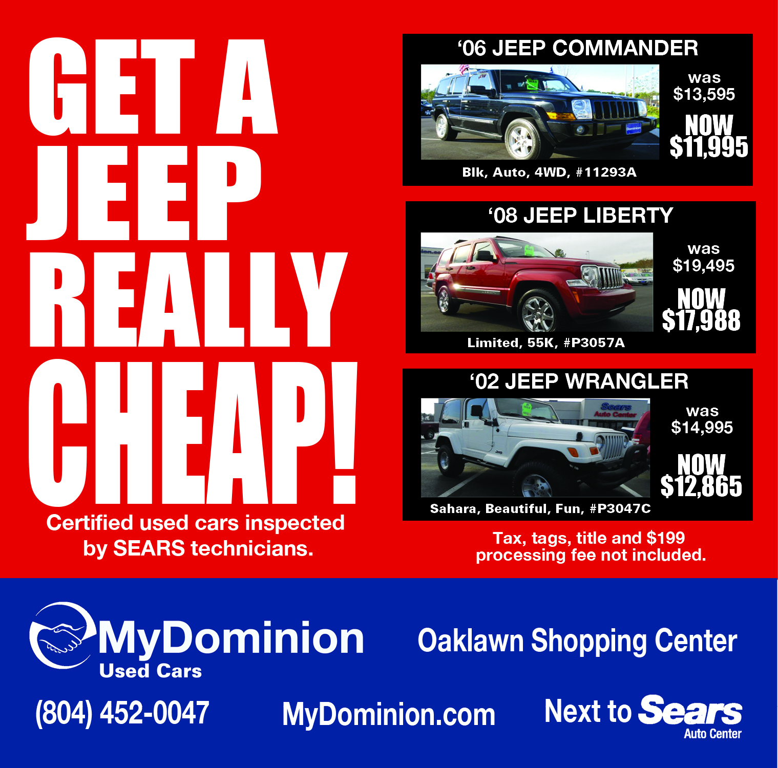 Get a Jeep Cheap (Dominion Auto) Photo 1